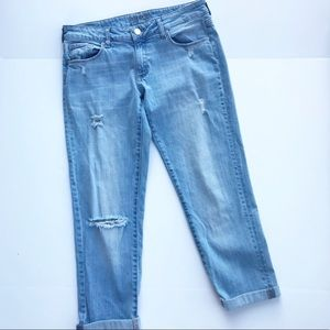 Boyfriend Blue Jeans Distressed DL1961 Riley Denim